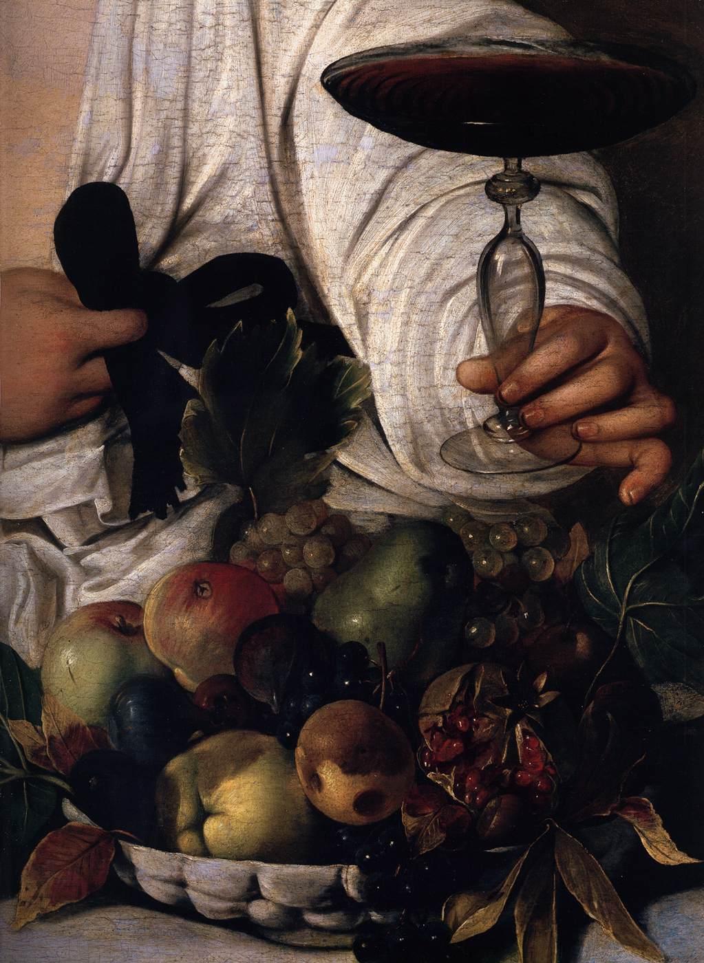 Caravaggio bacchus fingernails