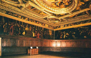 Council of Ten chamber in Doge's Palace in Venice