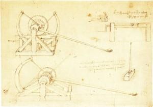 Leonardo catapult