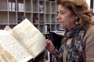 At work in the Florentine State Archive