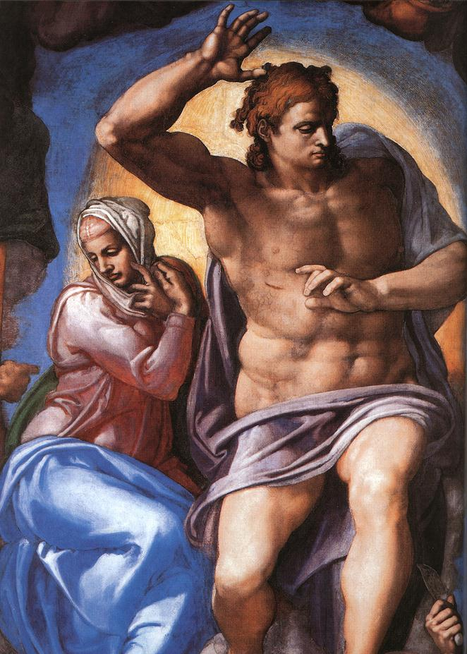 Michelangelo lastjud christ and mary