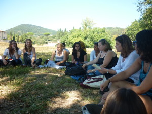 Lisa Kaborycha teaching at Corbignano
