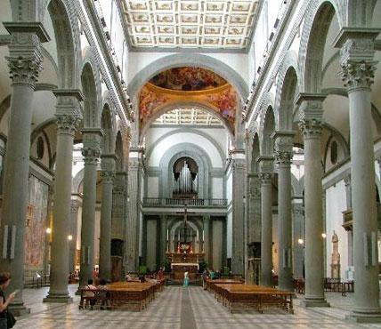 3 back to the future renaissance italy for Interior iglesia san lorenzo brunelleschi