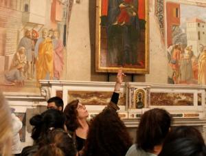 Lisa Kaborycha teaching Brancacci Chapel