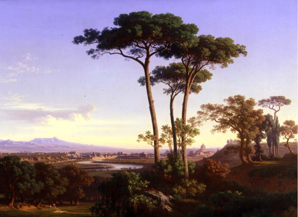 JOHANN JAKOB FREY - View of Rome from Monte Mario