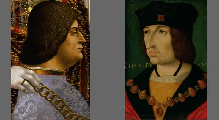 Ludovico and CharlesVIII