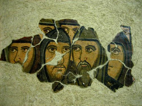 rome san saba fresco