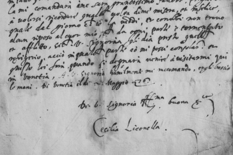 Cecilia Liconella letter