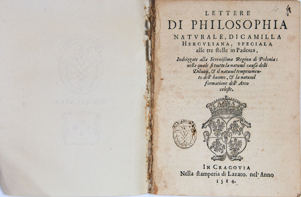 Camilla Erculiani letters natural philosophy